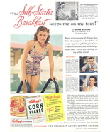 1941 Esther Williams Kellogg's Corn Flakes print ad - $10.00