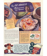 1936 Pat O'Brien Quaker Puffed Rice Cereal print ad - $10.00
