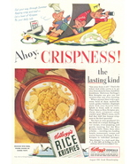 1941 Kellogg's Cereals Rice Krispies cartoon print ad - $10.00