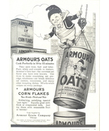 1946 Armour's Oats & Corn Flakes Cereal print ad - $10.00