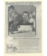 1937 Borden's Eagle Brand Condensed Milk print ad - $10.00