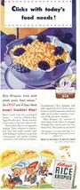 1941 Kellog's Rice Krispies Cereal 1/2 half page print ad - $10.00