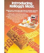 1979 Kellogg's Most Breakfast Cereal Wheat Germ print ad - $10.00