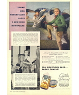 1937 Low-Wing Monoplane Pilot Camel Cigarette print ad - $10.00