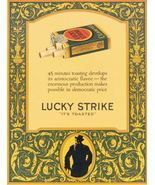 1924 LUCKY STRIKE full page & colour cigarette print ad - $10.00