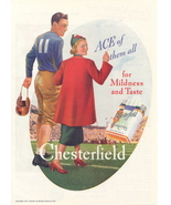 1937 Chesterfield Cigarettes Sports Player print ad - $10.00