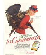 1941 Marjorie Woodworth Chesterfield cigarette print ad - $10.00