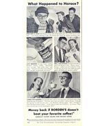1948 Borden's Instant Coffee couple dialog b&w print ad - $10.00