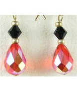 Faceted Red and Black Swarovski Crystal Busines... - $47.04
