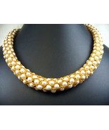 Pearls Hand Woven with Rayon Silk Thread into a... - $237.12