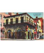 Vintage linen postcard old absinthe house bourbon street new orleans la thumbtall