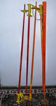 1 set Barrecrafters Orange Yellow Ski Poles PLUS 1 pr  Tomic/ both Vtg A... - $22.76