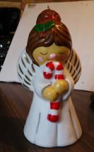 Vintage Carolite Musical Angel w/ Lighted Candl... - $10.89