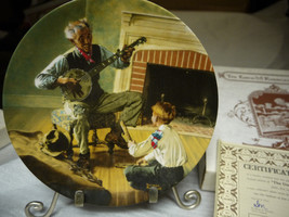 Norman Rockwell Plate by Knowles The Banjo Player-org Box - Collector Plate - $14.84