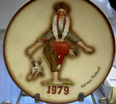 """""""Leapfrog"""" 1979 Limited Edition N.Rockwell Plate w/org. box , nice, rais... - $4.95"""