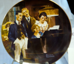 """Bradford Exch Collector Plate Norman Rockwell """"CLOSE HARMONY"""" 1984 w/org... - $4.95"""