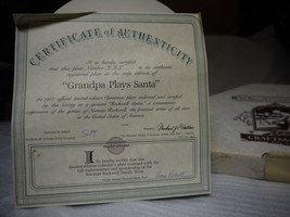 """Norman Rockwell Plate """"Grandpa Plays Santa"""" the 1985 limited Collector P... - $4.95"""