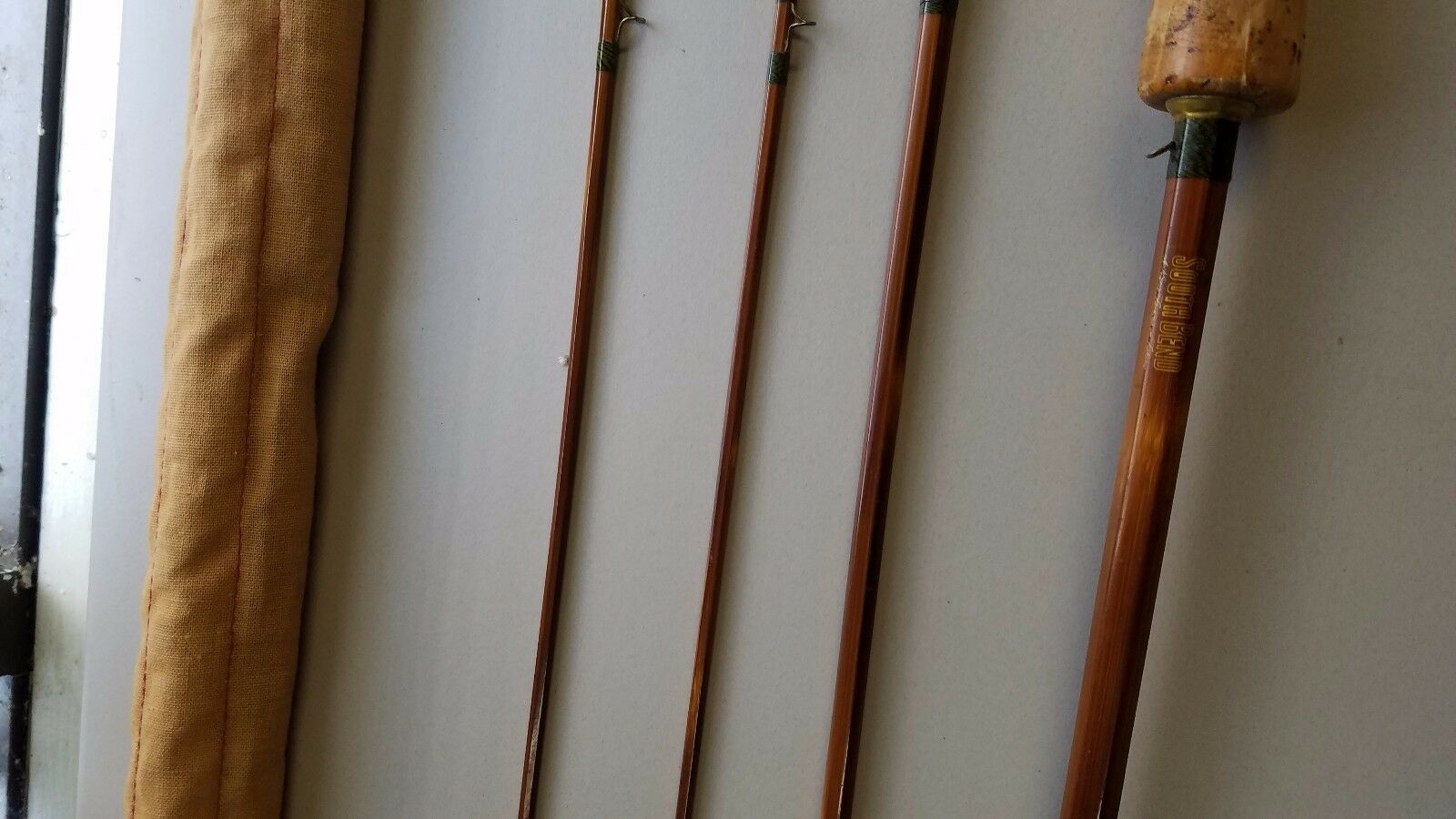 Vintage Fishing Pole SouthBend 359 4 piece 9' South Bend with case