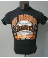 Vintage Hanes San Francisco Giants Single Stitch T Shirt Black 1989 Size S  - $29.69