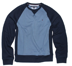 Tommy Hilfiger Men's Crew Neck Sweatshirt, Fleet Blue, Size 2XL - $29.69