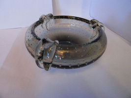 Details about   preowned light green bubbled ashtray with 3 rests - $135.00