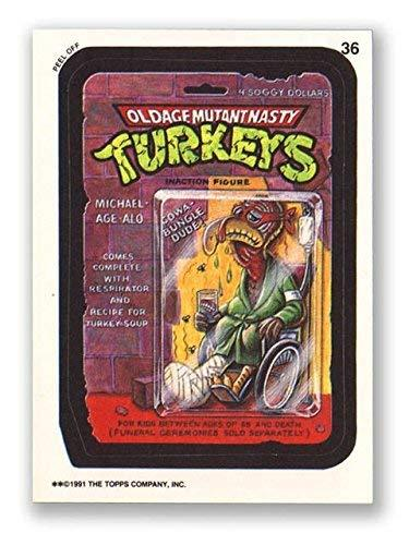 Wacky Packages 1991 #36 Oldage Mutant Nasty Turkeys Checklist Back