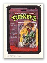 Wacky Packages 1991 #36 Oldage Mutant Nasty Turkeys Checklist Back - $2.93