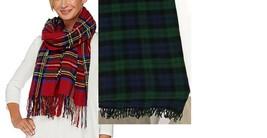 Foxford Woollen Mills Plaid Blanket Scarf - $12.86