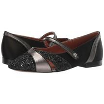 Coach Black Gunmetal Glitter Patchwork Suede Leather Mary Jane Flat Size 9.5 NIB - $172.76