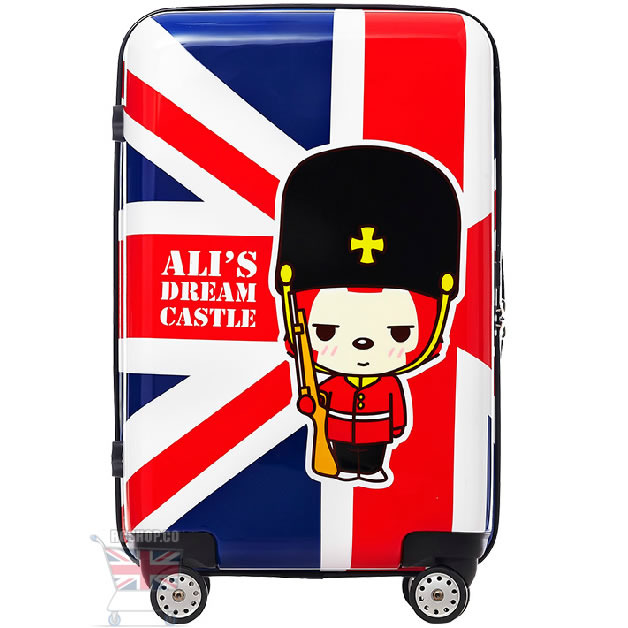 Primary image for 24-inch Suitcase England Ali's Old School Style Luggage TSA Lock