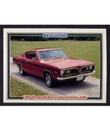 1992 Collect-A-Card Musclecars 1969 PLYMOUTH BARRACUDA FORMULA 340S - $0.20