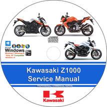 Kawasaki Z1000 2007 2008 2010 2011 2012 2013 2014 2015 Service Workshop Manual - $15.00