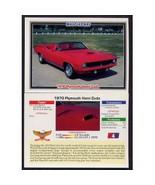 1992 Collect-A-Card Musclecars 1970 PLYMOUTH HEMI CUDA #4 - $0.20