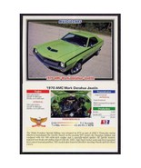 1992 Collect-A-Card Musclecars 1970 AMC MARK DONAHUE JAVELIN #12 - $0.20