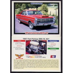 1992 Collect-A-Card Musclecars 1967 FORD FAIRLANE 500/XL 427 #10