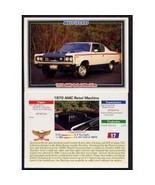 1992 Collect-A-Card Musclecars 1970 AMC REBEL MACHINE #17 - $0.20
