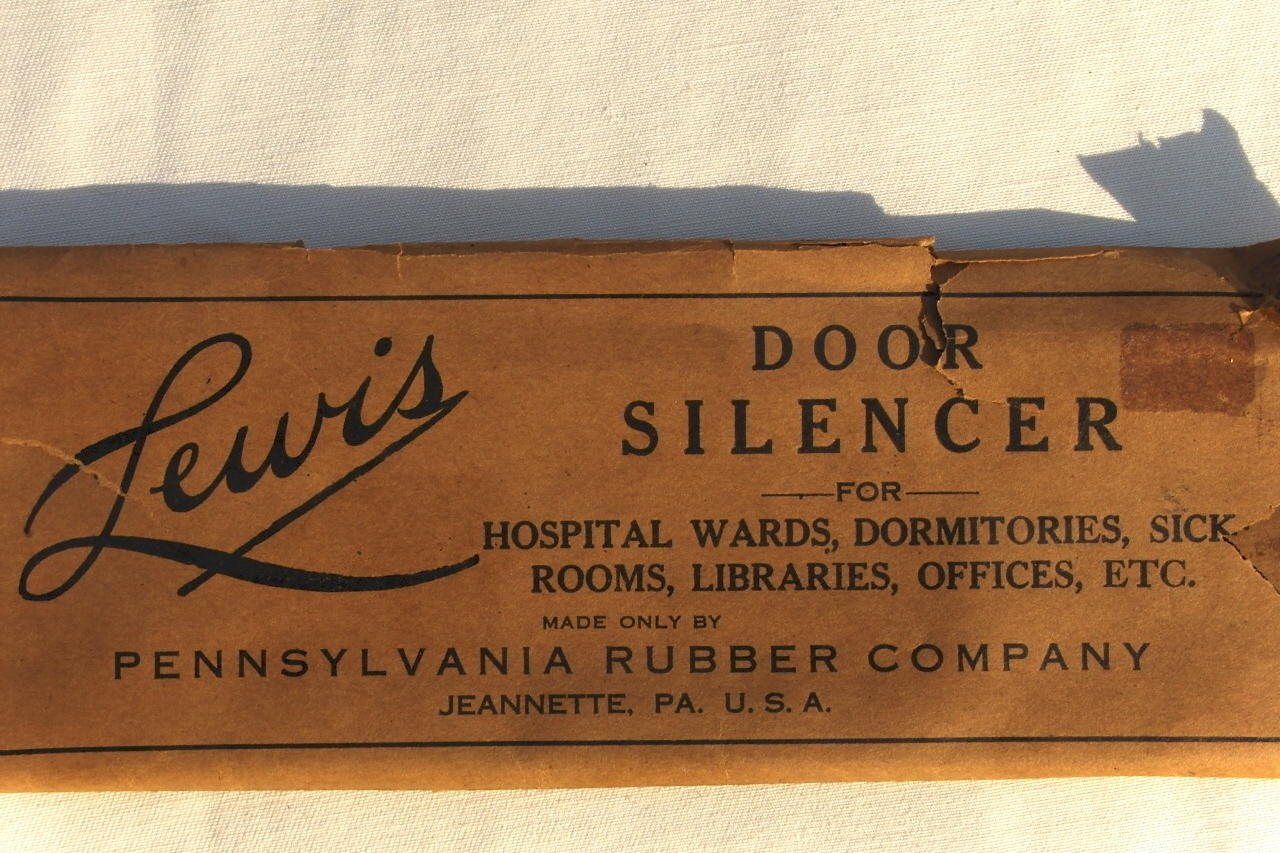 Vintage 1920 Lewis Door Silencer by Pennslvania Rubber Co