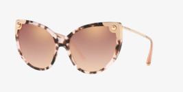 DOLCE & GABBANA LUCIA DG 4337 Purple Havana Rose Mirrored Sunglasses DG4337S image 1