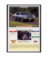 1992 Collect-A-Card Musclecars 1970 CHEVROLET CHEVELLE SS454 #33 - $0.20