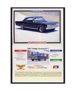1992 Collect-A-Card Musclecars 1967 DODGE CORONET R/T #54 - $0.20