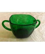 Vintage Anchor Hocking Fire King Emerald Green Square  Kitchen Sugar No Lid - $18.81