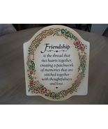 Friendship Poem Wall, Table Plaque, Painted  - $6.99