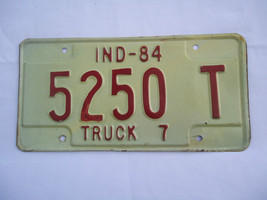 1984 Indiana Truck  License Plate 5250 T - $11.58