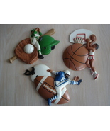 Homco Baseball, Football, Basketball Wall Decor Plaques - $12.99