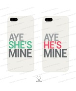 Aye She's/He's Mine Matching White Phone Cases for iPhone 4 5 5C Galaxy ... - $19.99