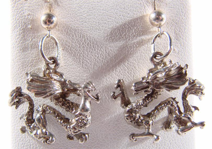 DRAGON EARRINGS - STERLING
