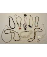 Beaded Necklaces Qty 10 Semi-precious Stones Gl... - $27.17