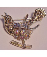 Vintage Peacock Bird AB Rhinestone Filled Brooc... - $75.00