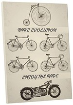 "Pingo World 0725QQTVSGY ""Bike Evolution Motorcycle"" Gallery Wrapped Canvas Wall  - $48.46"