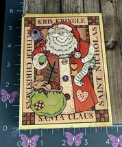 Hero Arts 1996 Kris Kringle Santa Claus Christmas St Nick Rubber Stamp #BS2-3 - $5.94